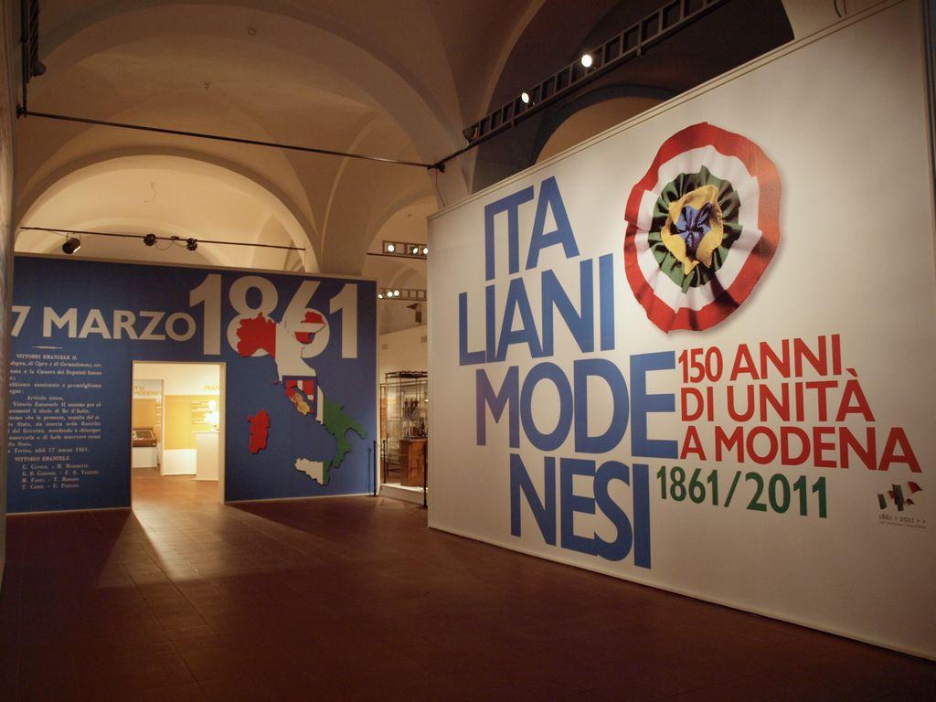 Logo pubblicità allestimenti fiere 150 anni unita italia